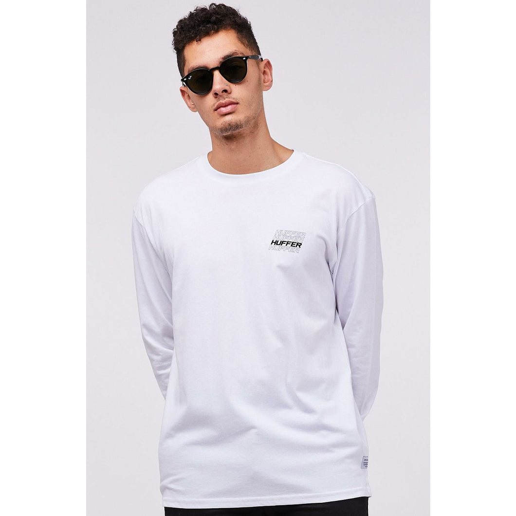 Huffer LS Collective Sup Tee - White