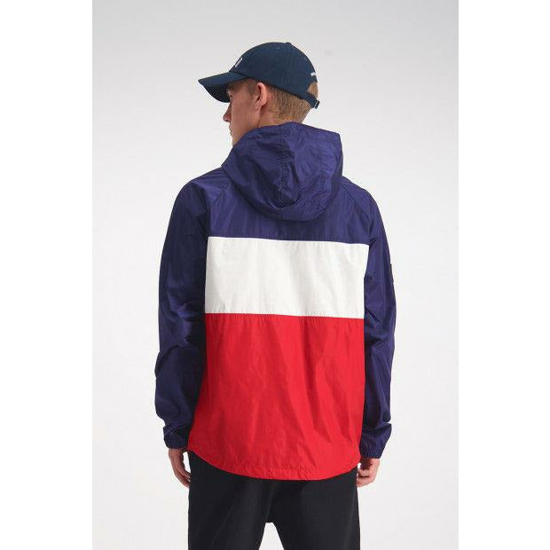 Huffer Mans Spray Anorak - Navy/Red