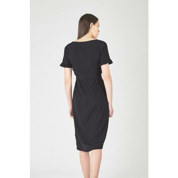 Huffer Maria Wrap Dress - Black