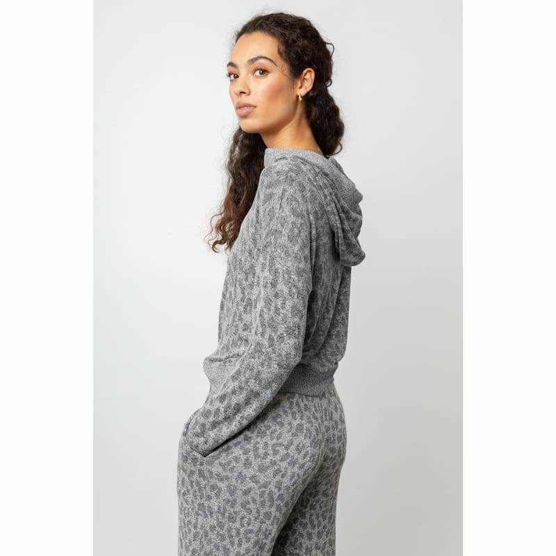Rails Devon Sweatshirt - Melange Grey Leopard