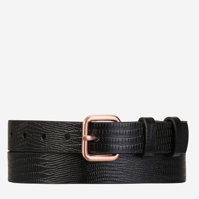Status Anxiety Revelry Belt - Black Lizard