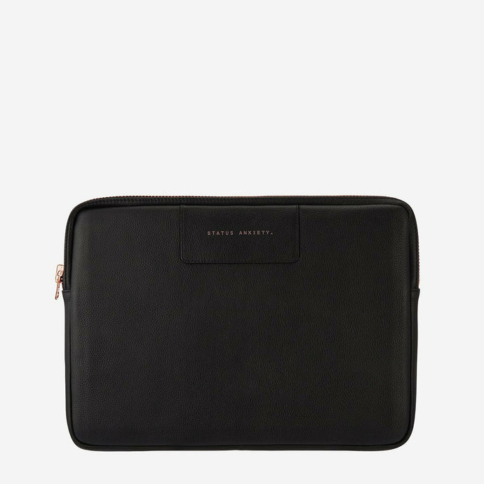 Status Anxiety Before I Leave Laptop Case - Black/Rose Gold