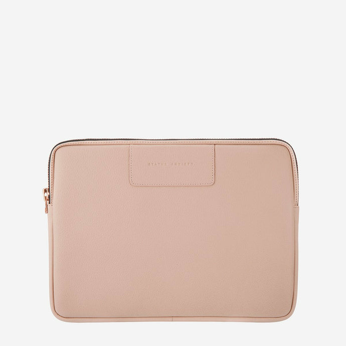 Status Anxiety Before I Leave Laptop Case - Dusty Pink