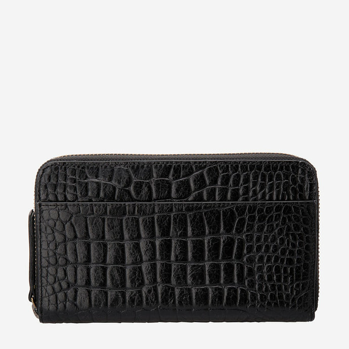 Status Anxiety Delilah Wallet - Black Croc