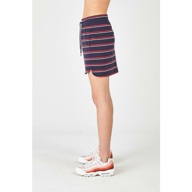 Huffer Playa Stripe Blonde Skirt - Navy/Red
