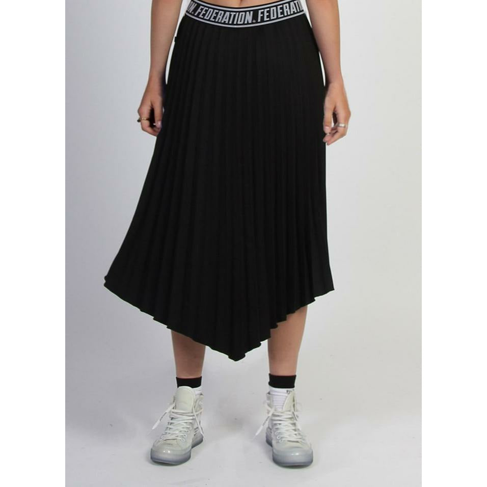 Federation Angled Skirt - Black