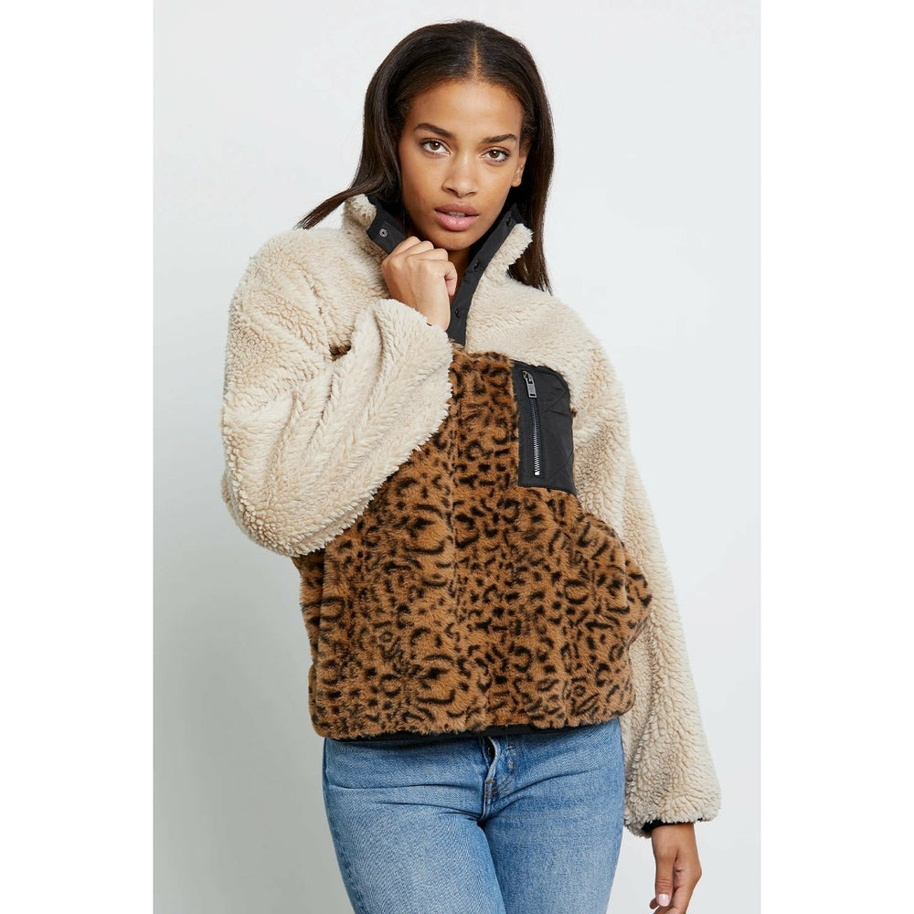 Rails Saga Sweatshirt - Cream Leopard Mix