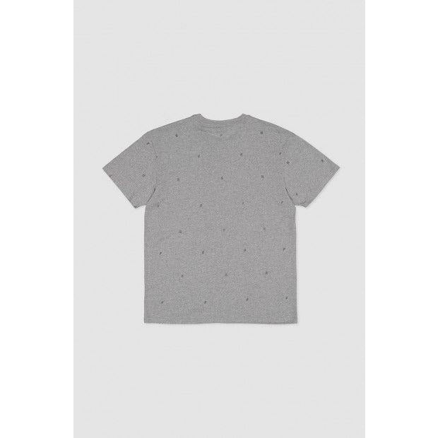 Huffer Shocked Sup Tee - Charcoal Marle