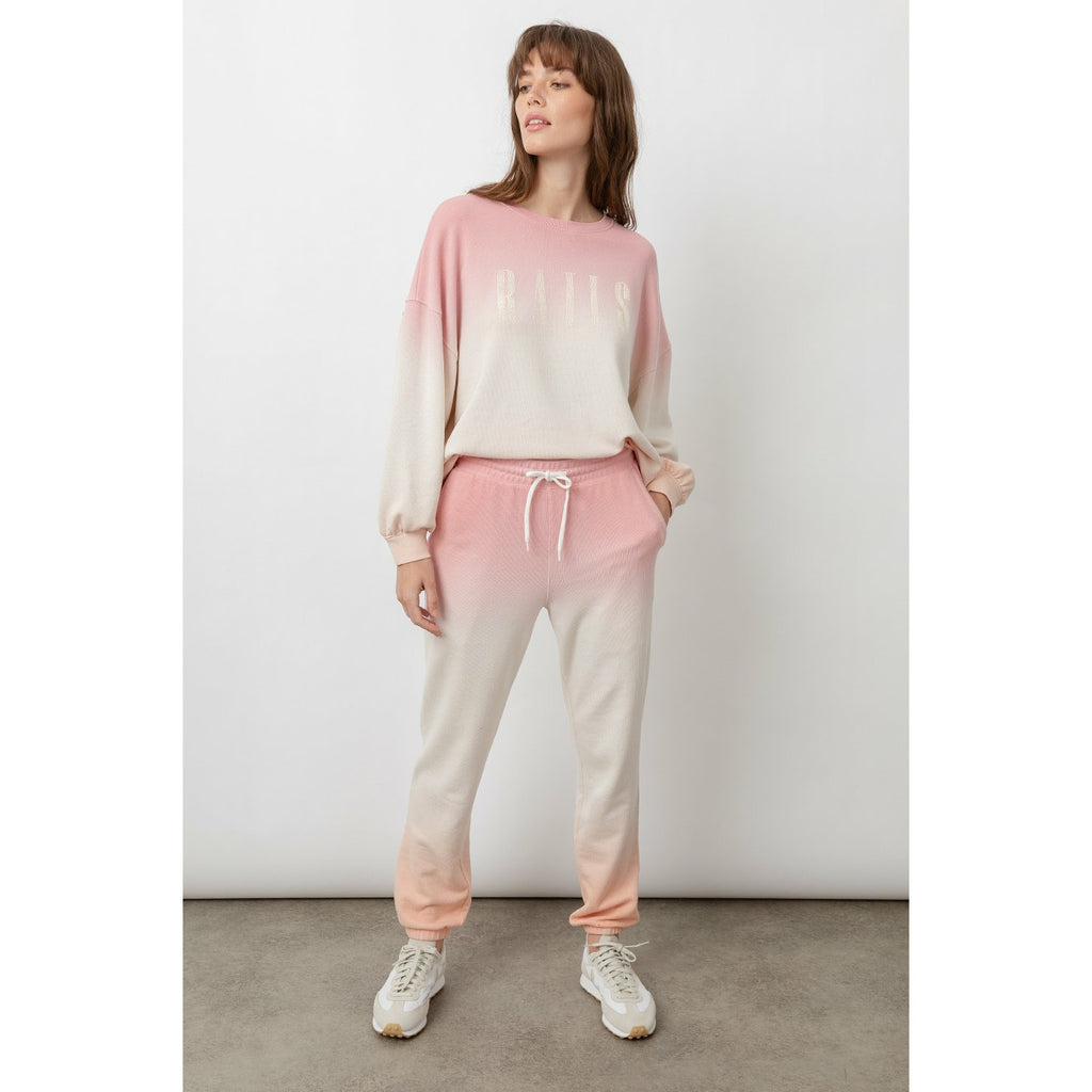 Rails Signature Sweatshirt - Pink Peach Dip Dye