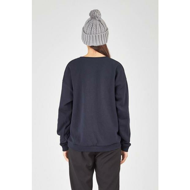 Huffer Slouch Crew 2.0/Cont Badge - Navy