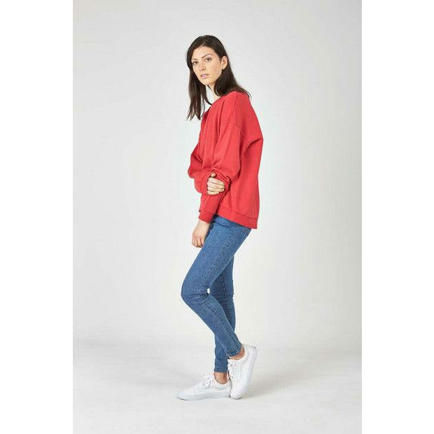Huffer Slouch Crew / Cont Badge - Red