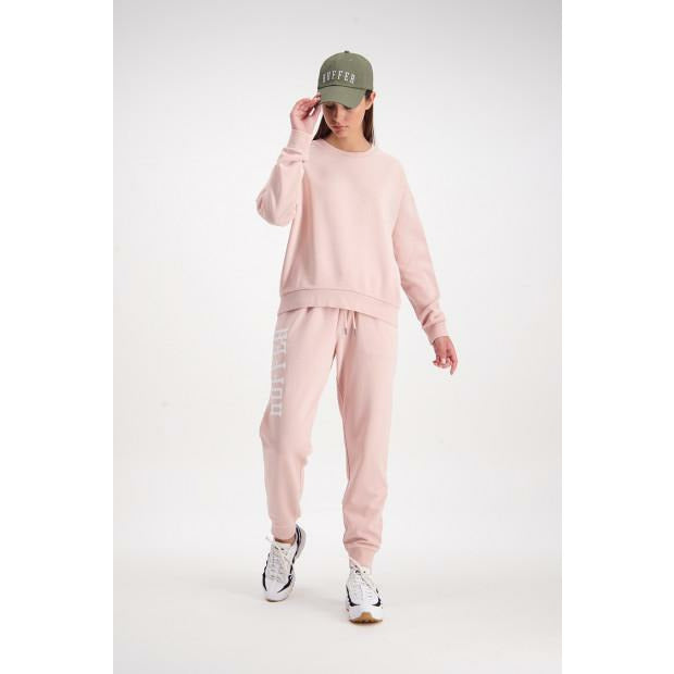 Huffer Slouch Crew/Cont Badge - Dusky Pink