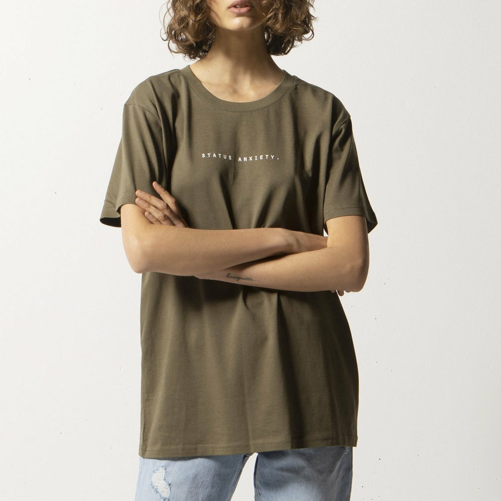 Status Anxiety Think It Over Women's Tee - Army