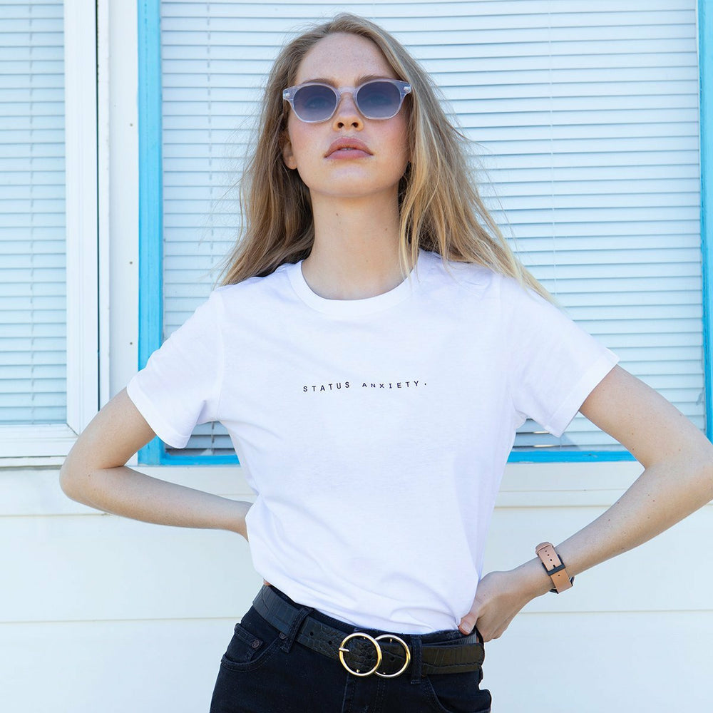 Status Anxiety Think It Over Women's Tee - White