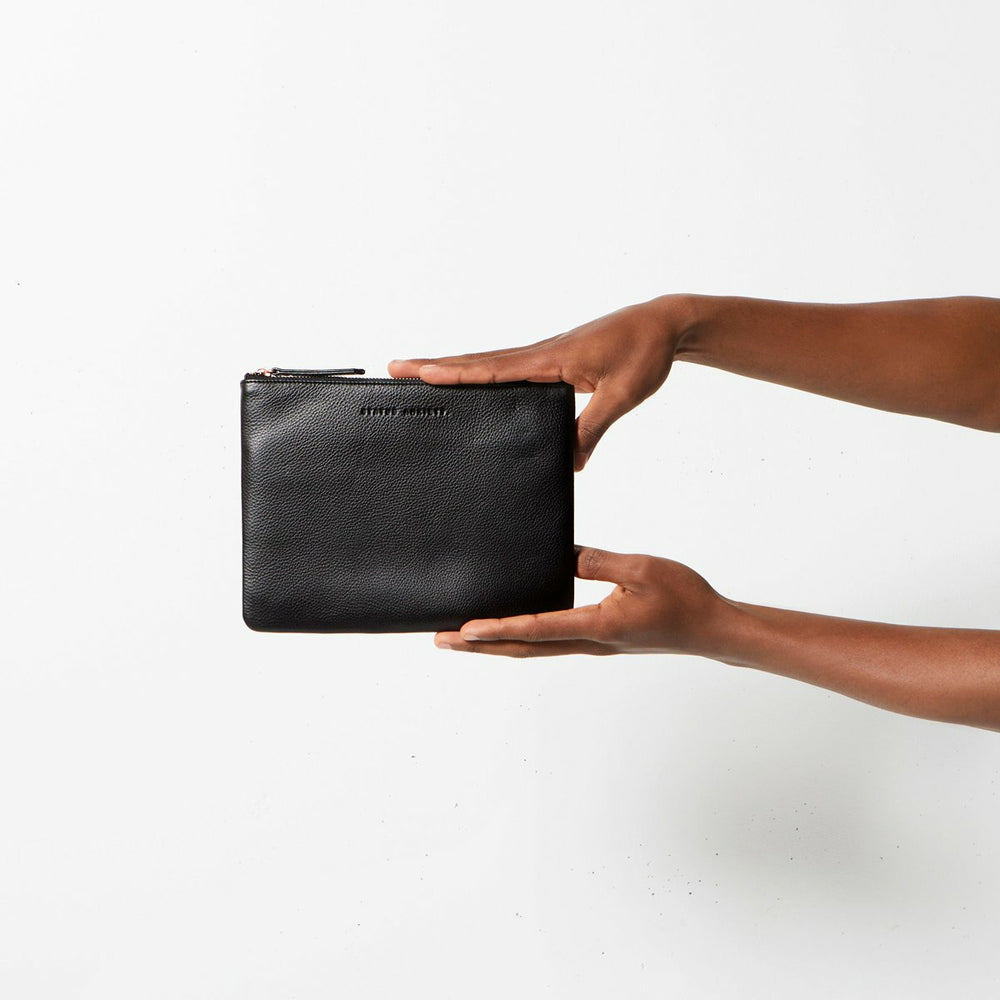 Status Anxiety Fake It Clutch - Black