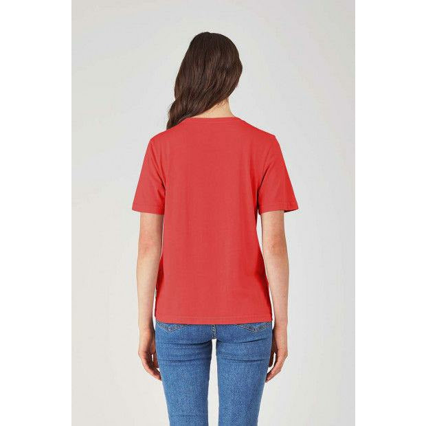Huffer Stella Tee / Cont Badge - Red