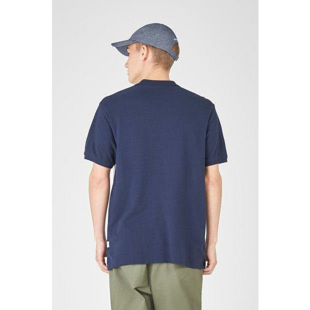 Huffer Street Polo - Navy/White