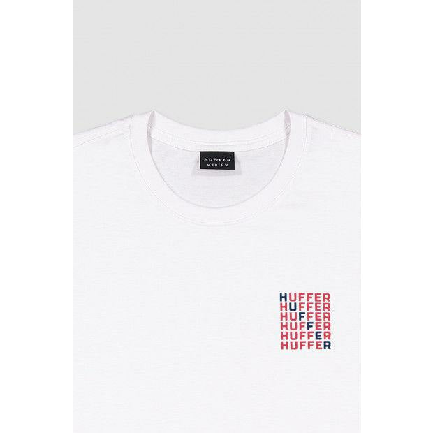 Huffer Sup/Crosswords Tee - White