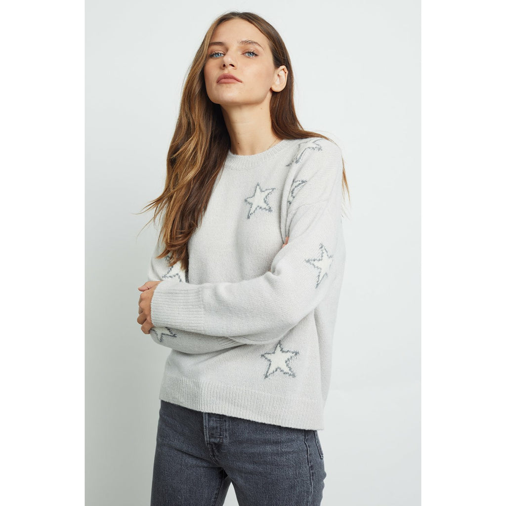 Rails Virgo Knit - Grey White Stars