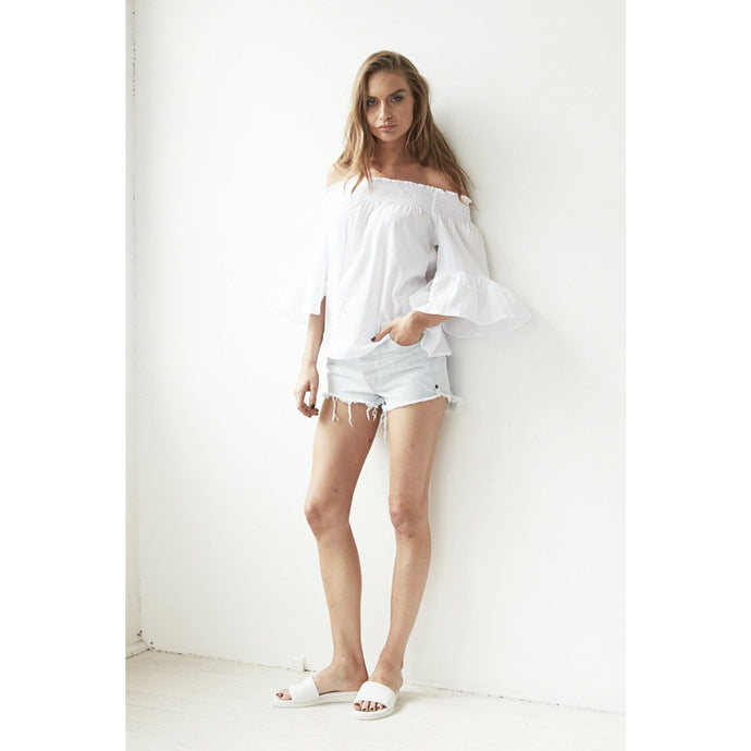 Cartel & Willow Off Shoulder Top - White