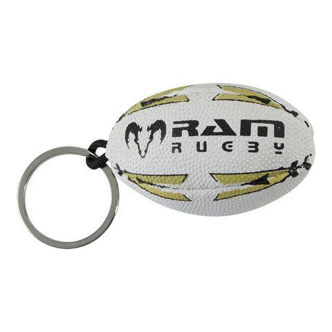 Rugby Ball Key Ring - Rubber