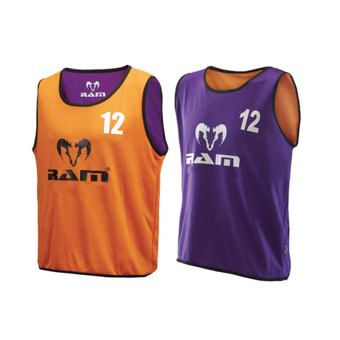 SPECIAL OFFER - Numbered Reversible Training Bibs - Set of 15 - Orange/Purple