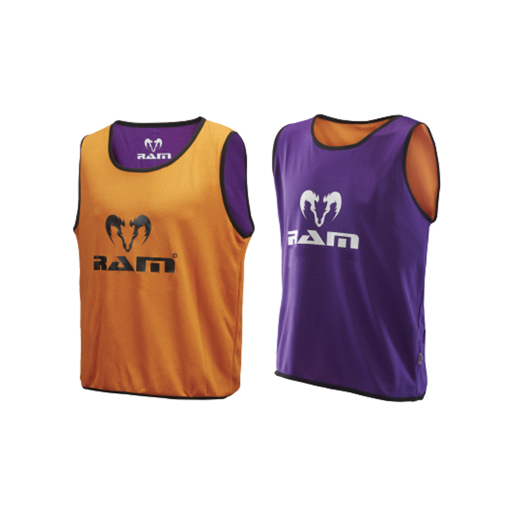 SPECIAL OFFER - Reversible Training Bibs - Set of 10 - Orange/Purple