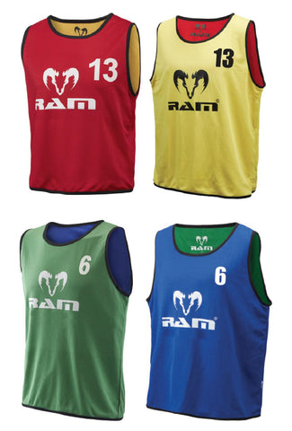 Numbered Reversible Training Bibs - Set of 15