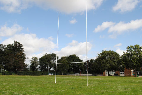 Hinged Steel Rugby Goal Posts - 11m