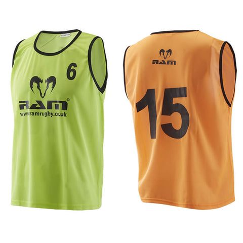 Numbered Training Bibs - Mesh Polyester - Senior & Youth