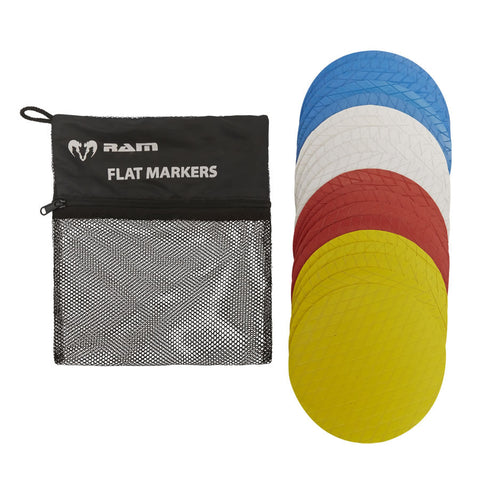 Flat Marker Cones - Set of 20
