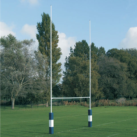 Hinged Steel Rugby Goal Posts - 33'