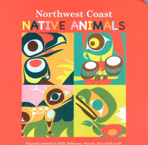 Northwest Coast Native Animals. Original artwork by Kelly Robinson, Nuxalk, Nuu-chah-hulth. - Washington State Historical Society