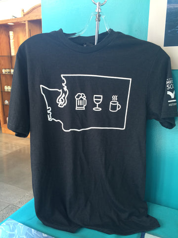 Steins, Vines, & Grinds T-Shirt - Washington State Historical Society - 1