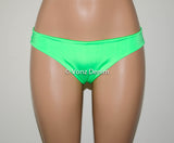 Neon Green Scrunch Bikini Bottom, Cheeky Hips Bikini Bottom, Brazilian Bikini Bottoms, Fully Lined Scrunch Butt Bikini Swimsuit - Voneenz