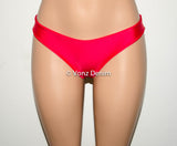Red, White & Blue Scrunch Bow Bikini Bottom, Cheeky Hips Bikini Bottom, Brazilian Bikini Bottoms, Fully Lined Scrunch Butt Bikini Swimsuit - Voneenz