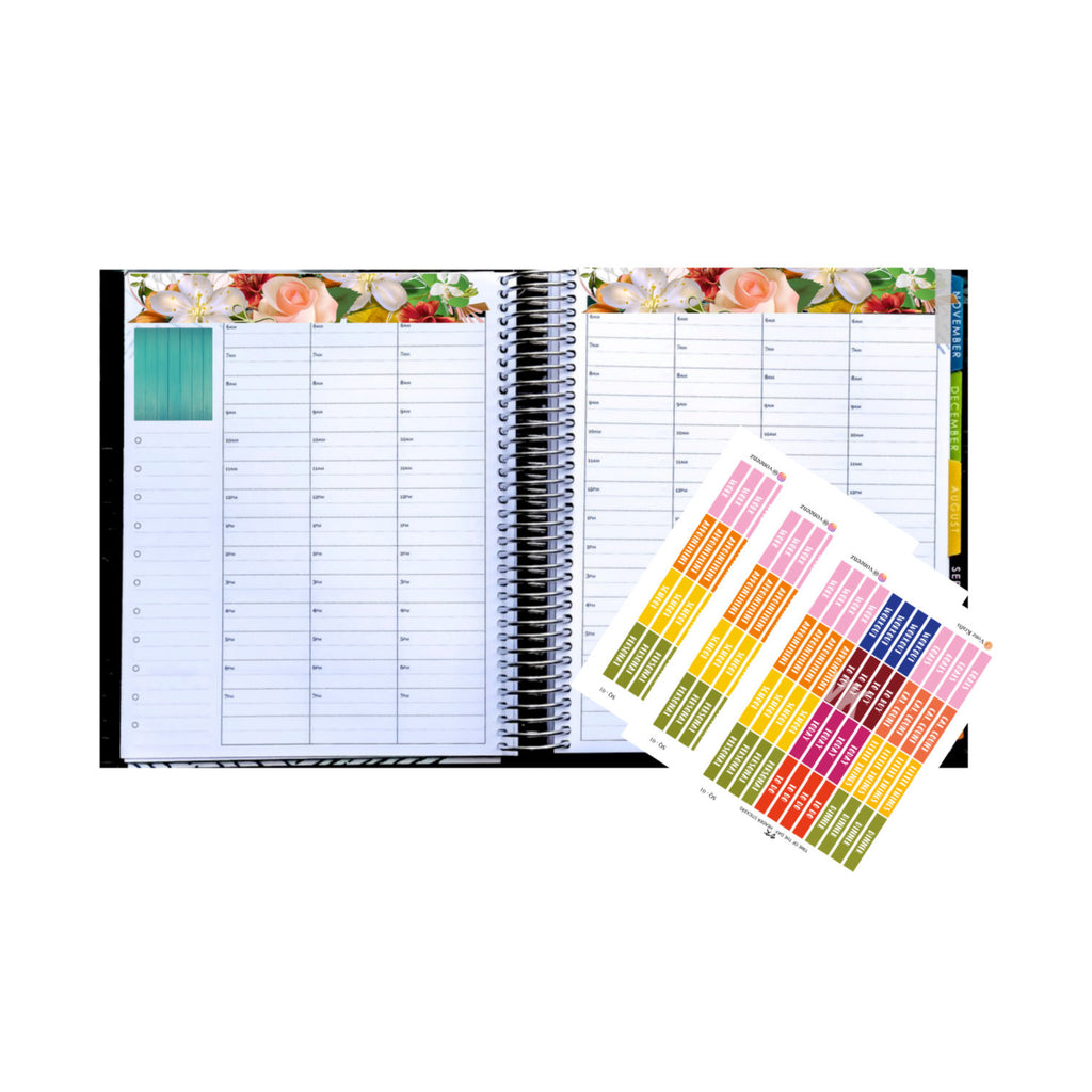 48 Time Of The Day Box Label Stickers, Header Boxes, Planner Stickers, Perfect For Erin Condren Planner, Functional Label Stickers:  SQ-01