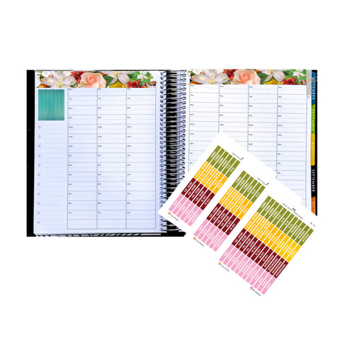 48 Functional Label Stickers, Time Of The Day Box Label Stickers, Header Boxes, Planner Stickers, Perfect For Erin Condren Planner:  SQ-02