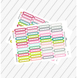 48 Scalloped Label Stickers, Happy Planner Sticker Label, Functional Planner Stickers, Perfect For Erin Condren Planner:  SQ-05