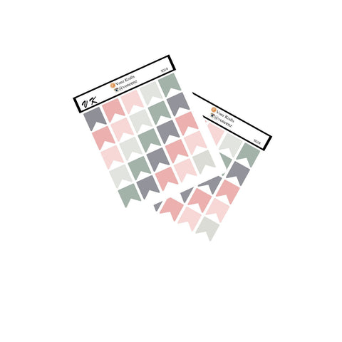50 Mini Flag Stickers, Functional Planner Stickers, Bullet Journal Stickers, Perfect For Erin Condren Life Planner, Page Flags ECLP:  SQ-18