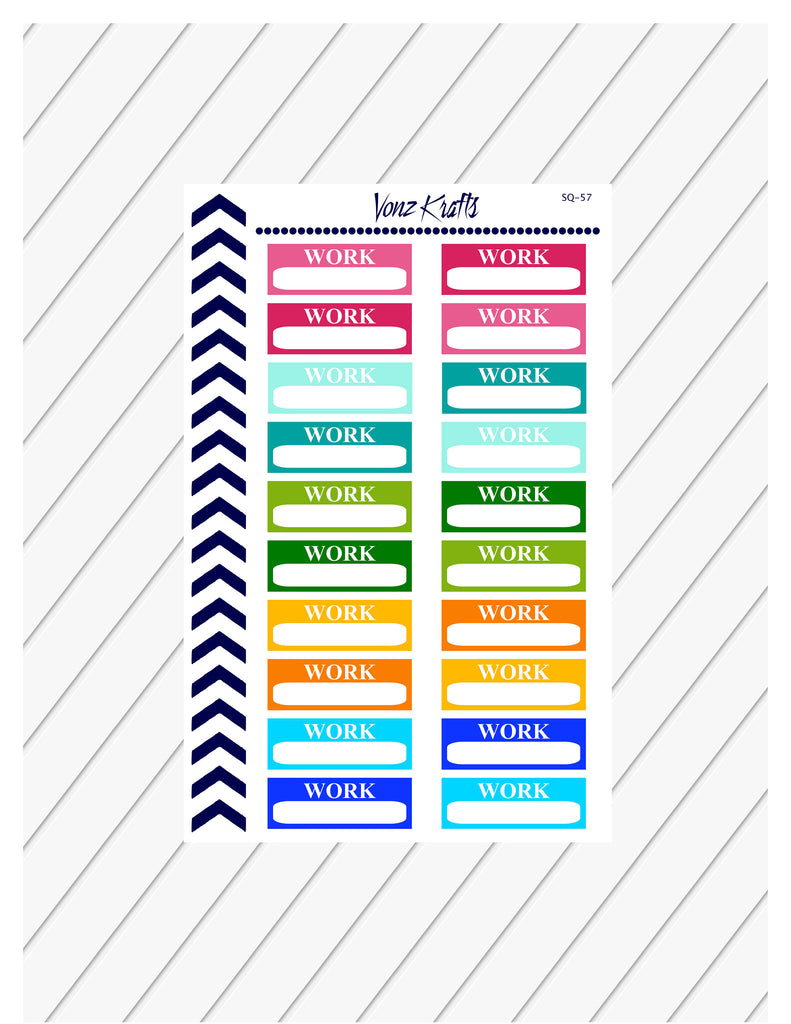 Work Schedule Planner Stickers, Weekly Shift Schedule, Bullet Journal, Functional Planner Stickers, Perfect For Erin Condren Planner:  SQ-57