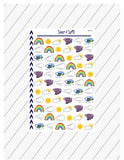 Weather Stickers, Weather Planner Stickers, Sunny Stickers, Daily Weather Stickers, Snow Stickers, Rain Stickers, Functional Planner Sticker