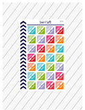 Work Corner Planner Stickers, Work Stickers, Reminder Stickers, Functional Planner Stickers, Perfect For Erin Condren Planner:  SQ-64