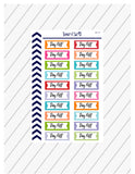 Day Off Planner Stickers, No Work Planner Stickers, Happy Planner, Functional Planner Stickers, Perfect For Erin Condren Planner:  SQ-77