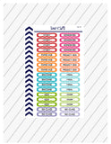 College Planner Stickers, Back To School Stickers, Academic Tracker Stickers, College Study Guide,  Perfect For Erin Condren Planner:  SQ-92