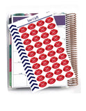 40 Red Lips Stickers, Planner Stickers, Envelope Seal, Wedding Stickers, Bridal Party Stickers, Laptop Stickers, Bachelorette Party Stickers