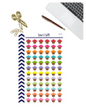 Cupcake Planner Stickers, Birthday Cupcake Planner Stickers, Happy Planner, Functional Planner Stickers, Perfect For Erin Condren Planner