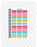 Don't Forget Planner Stickers, Reminder Stickers, Important Stickers, Functional Planner Stickers, Perfect For Erin Condren Planner:  SQ-80