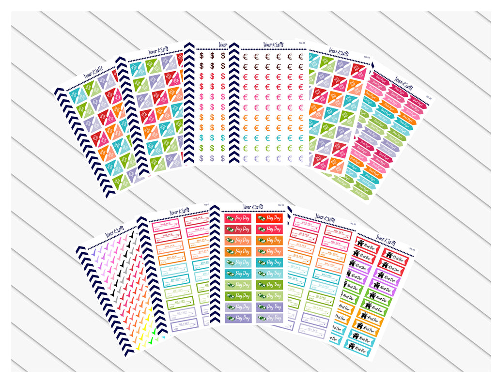 Finance Planner Starter Kit, Financial Planner Stickers, Money Savings Stickers, Budget Stickers, Money Management, Debt Payoff