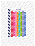 College Hexagon Stickers, Back To School Stickers, Academic Tracker Stickers, College Study Guide, Perfect For Erin Condren Planner:  SQ-94